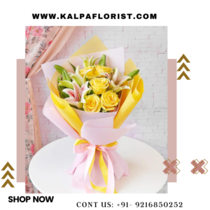 Yellow Rose & Lily Bouquet | Order Flower Bouquet Online | Kalpa Florist, order flower bouquet online, order flowers online to be delivered, order flowers online for wedding, how to order flower online, order flowers online for cheap, order flowers online for mother's day, order a flower bouquet online, order flowers online for birthday, order flowers online wholesale, order flowers online in bangalore, order flowers online orange county, order flowers online india, order flowers online in delhi, order flowers online for valentine's day, order flowers online same day, order flower bouquet online delhi, order flowers online to plant, to order flowers online, how to order bouquet of flowers, how to order bouquet online, flower bouquet online in hyderabad, order flower bouquet online kolkata, Yellow Rose & Lily Bouquet | Order Flower Bouquet Online | Kalpa Florist